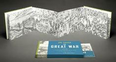 """The Great War,"" a long panorama that folds like an accordion, illustrates the first day of the Battle of the Somme. We spoke with Sacco about his approach. Tapas, Political Comics, Art Spiegelman, New Year Illustration, Illustrations, Bayeux Tapestry, Battle Of The Somme, Accordion Book, Comic Book Artists"