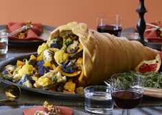 Fork-and-Knife Roasted Vegetables (acorn squash/kabocha/kuri squash, cauliflower, mushroom, brussel sprouts, onion)