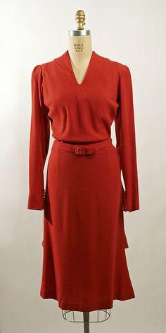 1939 Henri Bendel - Vintage 1930's Wool suit - The Metropolitan Museum of Art