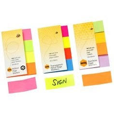 Stationery: Marbig Page Markers handy for making kids books for craft :)