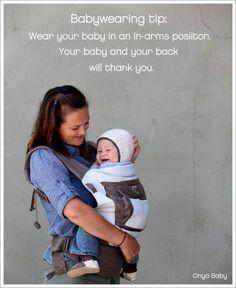 Babywearing tip. Proper baby wearing positioning