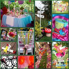 Disney Party Boards...Mad Hatter Tea Party