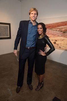 Dirk Nowitzki and wife Jessica