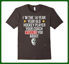 Mens Ice Hockey 14th Birthday T Shirt 14 Year Old Fans Tee Small Asphalt