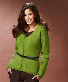 V-Neck Pullover #Niki #RedHeart #knitting