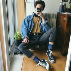 Fashion mens casual hipster menswear 42 Ideas for 2019 - Men's style, accessories, mens fashion trends 2020 Retro Outfits, Mode Outfits, Vintage Outfits, Casual Outfits, Men Casual, Casual Menswear, Plad Outfits, Classy Casual, Urban Outfits