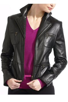 Look at this Tanners Avenue Black Leather Safari Blazer - Women on today! a8af6589b2