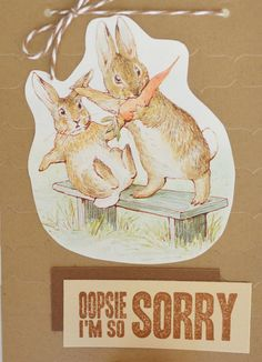 Sorry Card Apology Greeting Card Upcycled by CardsbyJeweleighaB, $3.50 selling on Etsy.