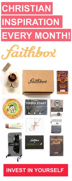 Faithbox is a monthly box for Christians that provides a daily devotional notebook every month, products from companies that respect people and creation, and feeds kids in need for every box shipped! gift for kids best gifts for kids Adonai Elohim, Faith Box, Just In Case, Just For You, Leadership, Soli Deo Gloria, Spiritus, Before Wedding, Thing 1