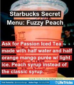 Starbucks Secret Menu: Fuzzy Peach