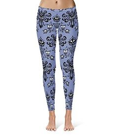 1d3d44ace Haunted Mansion Wallpaper Leggings XS-3XL Lycra Gym Yoga Full Length at  Amazon Women s Clothing store