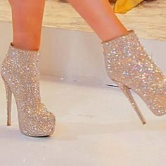 silver shoes high heels pumps glitter heels heels silver #prom heels #shoeshighheelsfashion #GlitterHeels