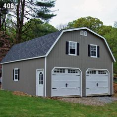 Modern Garage With Apartment Above 24' x 36' gambrel 3 bay garage with an efficiency apartment above