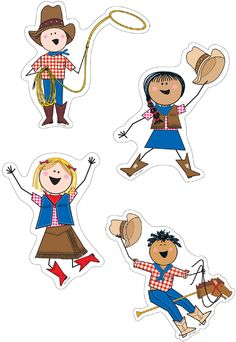 Perfect for decorating classroom walls. These fun hitching post cut-outs (or downsize to be a label) are perfect for a cowboy or country themed classroom look. Includes 4 styles of Stick Kids with cowboy hats, boots, stick pony, lasso, and western attire. Download on TpT!