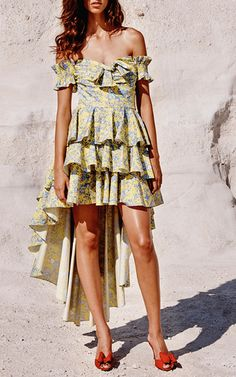 Caroline Constas - Artemis Ruffled Asymmetric Dress -   https://www.modaoperandi.com/caroline-constas-ss17?utm_source=responsys