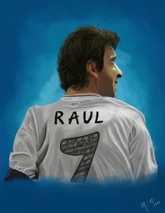 #raul #realmadrid #futbol #ilustration #eternoraul