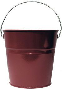 Burgundy Luster Bucket - Ideal for crafts, gift baskets, or decorative arrangements.