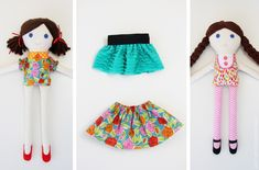 Free Felt Doll Patterns | Girl & Boy FABRIC DOLLS (pattern pieces included) | Make It and Love ...
