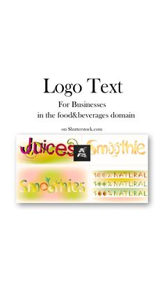 Special #set with logo text for companies in the #food and #beverages domain. Choose your favorite one! #vector #illustration #word #smoothie #natural #juices Pretty Drawings, Graphic Design Illustration, Image Collection, Juices, Smoothie, Beverages, Social Media, Messages, Illustrations
