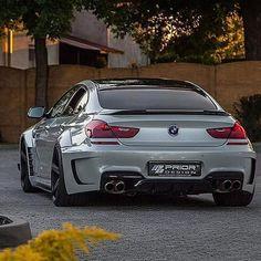 BMW F06 M6 Gran Coupe white widebody Prior Design Rolls Royce, Bmw 650i Gran Coupe, Bugatti, Bmw Motorsport, Bmw Performance, Bmw M Power, Bmw 6 Series, Ferrari, Bmw Love