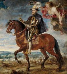 Felipe II a caballo por Tiziano
