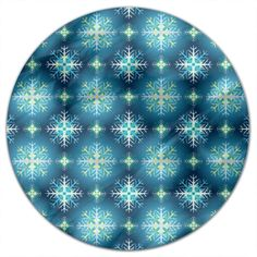 Uneekee Diamond Dust Round Tablecloth