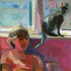 Maggie and Phoebe,oil, 12 x 12 inches,sold.