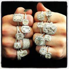 Henri Daussi engagement rings. Oh. My. Gosh.