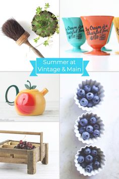 Summer picking season is in full bloom over on #VintageandMain!  Our shopkeepers have been busy sourcing some of the best vintage out there. Take a peek at the fruits of our labors:  www.etsy.com/pages/vintageandmain