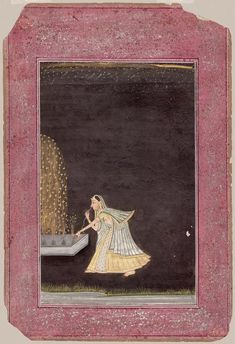 Woman lighting fireworks, unknown, late 18th century, Museum of Fine Arts, Boston.