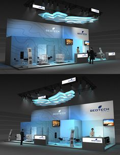 GEOTECH exhibition stand on Behance