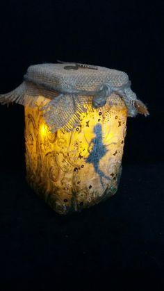 Faerie in a jarFae Fairy magical night by littlelilacbeachhut