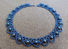 Free pattern for necklace Blue Night | Beads Magic