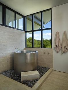 Japanese soaking tub.