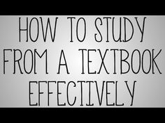 Nursing School | How To Study From A Textbook Effectively - YouTube