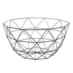 Zwarte metalen  schaal D 27 cm | Maisons du Monde