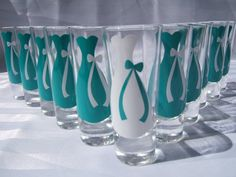 6 Wedding Glasses Personalized/Monogrammed by SimplySouthernCharms, $30.00