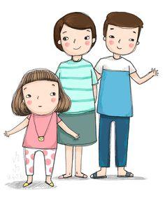 family by Pungpung Juntarawong, via Behance