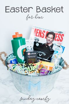 A grown up easter basket for the young at heart adult easter last minute easter basket for him sunday comfy negle Images
