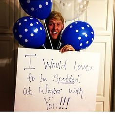 I would love to be spotted at the winter dance with you!