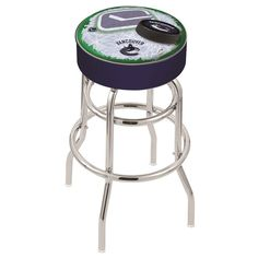 Vancouver Canucks NHL D2 Retro Chrome Bar Stool. Available in 25-inch and 30-inch seat heights. Visit SportsFansPlus.com for details.