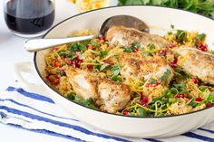 Make This Speedy One-Pot Chicken Couscous Dinner This Week via Brit + Co