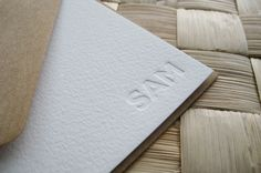 Personalized Letterpress Stationery - Set of 10 - Christmas Gift, Holiday Gift, Presents for Men