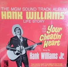 """Your Cheatin Heart 12"""" Vinyl Lp MINT Original Soundtrack (1968, music of Hank Williams, vocal by his son Jr) George Hamilton Collectible"""