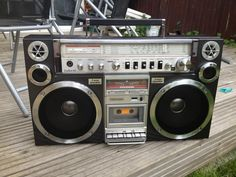 Vintage Toshiba Boombox (sorry,don't know what model this is) Cassette Recorder, Tape Recorder, Radios, Hifi Audio, Boombox, Old Tv, Audio Equipment, Audio System, Technology
