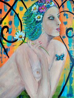 Suzanne Smeets Olio acrilico su tela 40x50