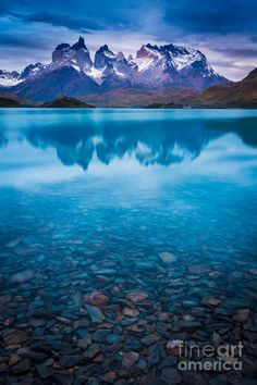 ✯ Sunset over Lago Pehoe and the Los Cuernos peaks in Torres del Paine National Park, Patagonia, Chile