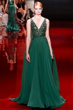 Elie Saab Fall 2013 Couture Fashion Show - Maud Welzen