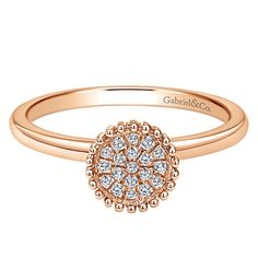 Gabriel & Co.-Voted #1 Most Preferred Fine Jewelry and Bridal Brand. 14k Rose Gold Bombay Fashion Ladies' Ring