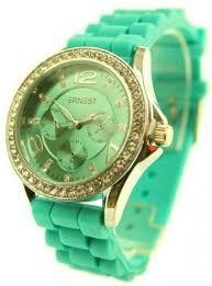 horloge groen met goud